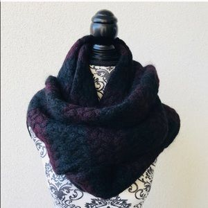 🍇 Lord&taylor wool rich wrap up purple black New